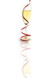 Giro del vidrio de Champán Fotografía de archivo libre de regalías