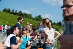 Giro del vino nel rkheim del ¼ di Obertà vicino a Stuttgart, Germania Fotografia Stock Libera da Diritti