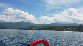 Giro della barca in Bali, Indonesia stock footage