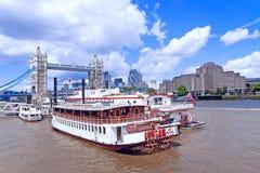 Giro della barca di fiume di Londra Fotografie Stock Libere da Diritti