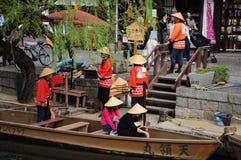 Giro della barca di vista in canale di kurashiki Immagini Stock