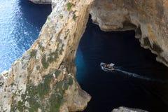 Giro della barca a Malta Fotografie Stock Libere da Diritti