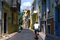 Giro della bici attraverso Atene Fotografie Stock Libere da Diritti