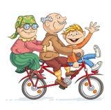 Giro della bici di divertimento Fotografie Stock Libere da Diritti