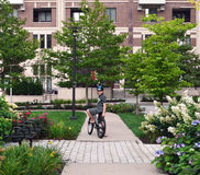Giro della bici di estate Fotografia Stock Libera da Diritti