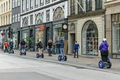 Giro della città di Segway Fotografie Stock Libere da Diritti