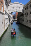 Giro della gondola a Venezia Italia Immagini Stock