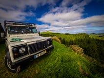 Giro della jeep in Azzorre Fotografia Stock