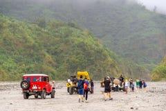 Giro della trazione integrale alla montagna Pinatubo Immagini Stock