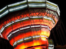 Giro della zona fieristica di notte, dettaglio Fotografie Stock