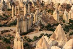 Giro di Balloom dell'aria calda sopra Cappadocia Immagini Stock Libere da Diritti