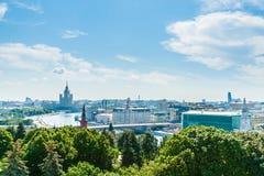 Giro 40 di Cremlino: Mosca da Ivan il grande campanile Immagine Stock