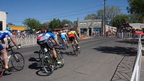 Giro di Gila Bike Race Silver City, nanometro 2017 immagine stock