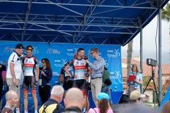 Giro di Jens Voigt 2013 di California Fotografia Stock Libera da Diritti