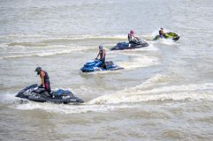 Giro di Jetski di G-scossa pro Tailandia 2014 Watercross internazionale G Fotografia Stock Libera da Diritti