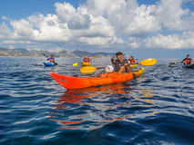 Giro di kayak fotografie stock libere da diritti
