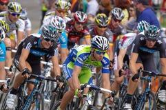 Giro di Peleton giù sotto 2010 Fotografia Stock