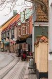 Giro di Simrishamn di vecchia città fotografia stock
