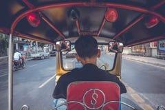 Giro di Tuk Tuk a Bangkok Fotografia Stock