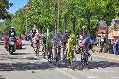 Giro DItalia em ruas de alba. Imagens de Stock Royalty Free