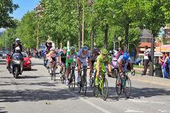 Giro DItalia on streets of Alba. Royalty Free Stock Images