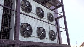 Giro do f? da unidade do condicionador de ar Sistema de condicionamento de ar industrial video estoque