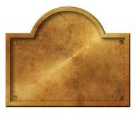 Giro elegante rustico del segno di peste dell'oro bronzeo dello spazio in bianco royalty illustrazione gratis