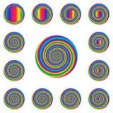 Giro espiral Fotografia de Stock Royalty Free
