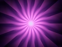 Giro espiral púrpura de los rayos ligeros Fotografía de archivo libre de regalías