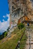 Giro esplorativo attraverso la bella regione montana di Appenzell, Svizzera, fotografia stock libera da diritti