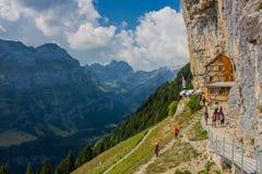 Giro esplorativo attraverso la bella regione montana di Appenzell, Svizzera, fotografie stock
