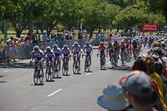 Giro finale della corsa giù sotto Fotografia Stock Libera da Diritti