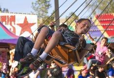 Giro giusto di carnevale dei bambini dello stato dell'Arizona Fotografie Stock