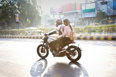 Giro India di giorno della Repubblica di Ducati Fotografie Stock