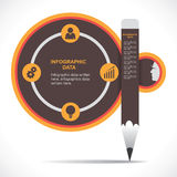 Infographics educativo creativo Immagini Stock Libere da Diritti