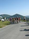 giro italia för 2009 cyklister D Arkivfoto