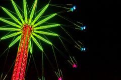 Giro luminoso Natale del ` s di Edimburgo, principi Street Gardens, Edin Immagine Stock