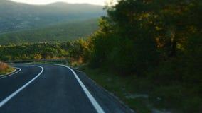 Giro pacifico al crepuscolo in Croazia, Dalmazia fotografia stock libera da diritti