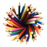 Giro redondo de lápices Imagen de archivo libre de regalías