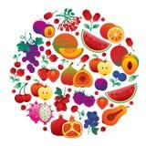 Giro rosso della frutta Fotografia Stock