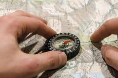 Giro turistico di pianificazione Immagini Stock Libere da Diritti