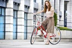 Giro urbano della bicicletta Fotografie Stock