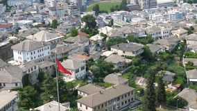 Girokastra-Stadt in Albanien stock footage