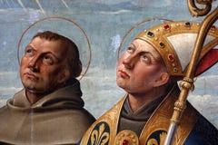 Girolamo DA Santa Croce: ST Anthony της Πάδοβας και του Σαιντ Λούις της Τουλούζης Στοκ φωτογραφίες με δικαίωμα ελεύθερης χρήσης