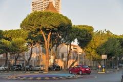Girolamo Savonarola Street in Rimini, Italy. Royalty Free Stock Photo