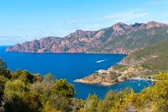 Girolata海湾和Scandola 库存图片