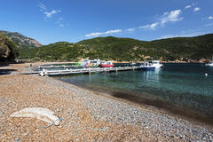 Girolata Anchorage in Corsica royalty free stock photos