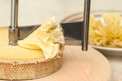 Girolle with Tete de Moine Cheese Royalty Free Stock Photo