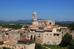 Girona καθεδρικός ναός Στοκ εικόνες με δικαίωμα ελεύθερης χρήσης
