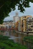Girona και η γέφυρα του Άιφελ Στοκ εικόνα με δικαίωμα ελεύθερης χρήσης